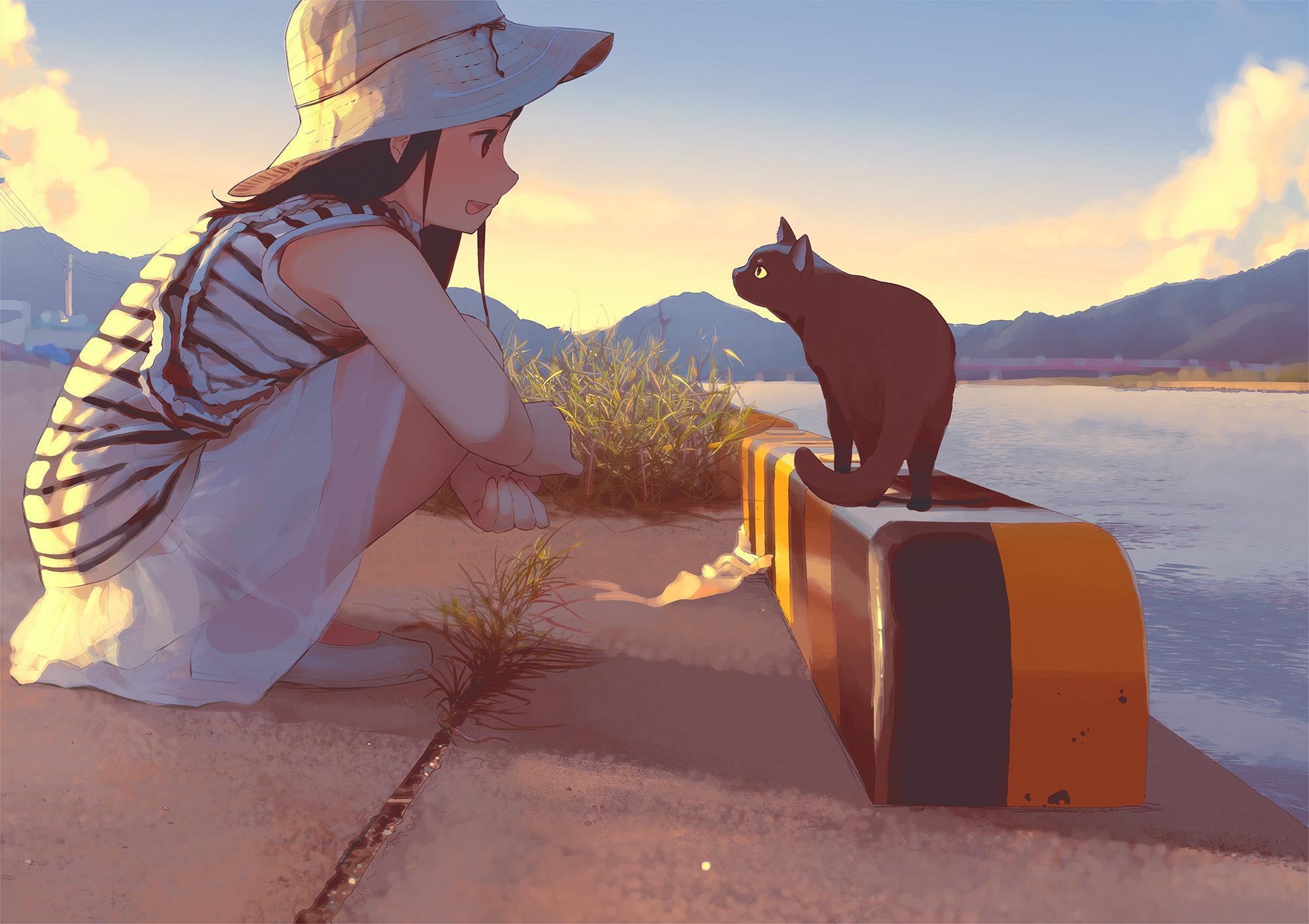 猫ちゃん、こんにちわ - もりちか